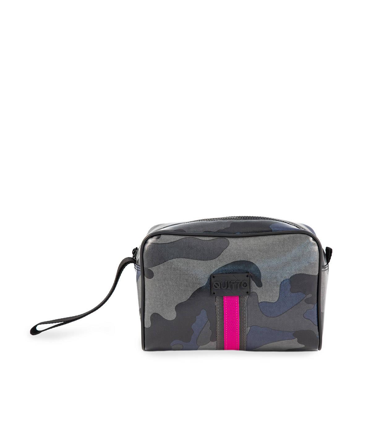 Beauty Case Camouflage Blu Riga Fuxia Quittobags