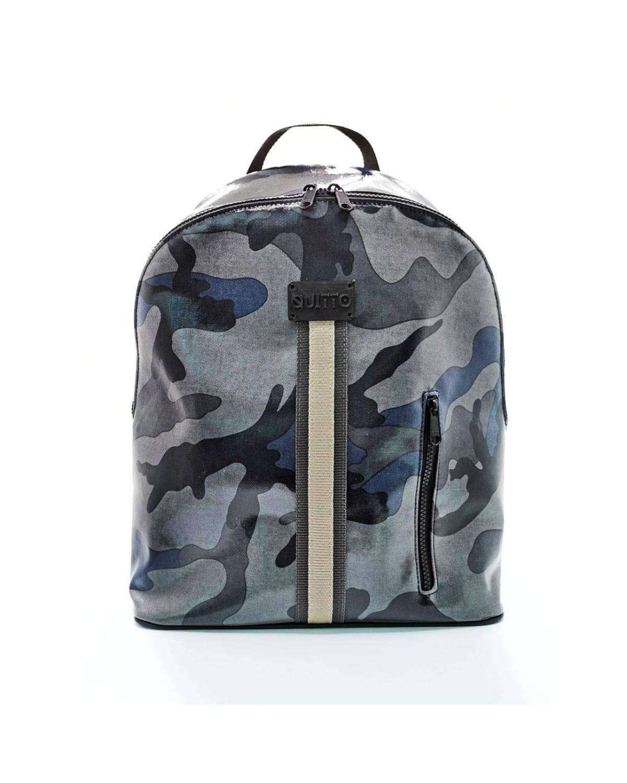 Zaino Maxi Porta Pc Impermeabile Camouflage Blu Quitto Bags