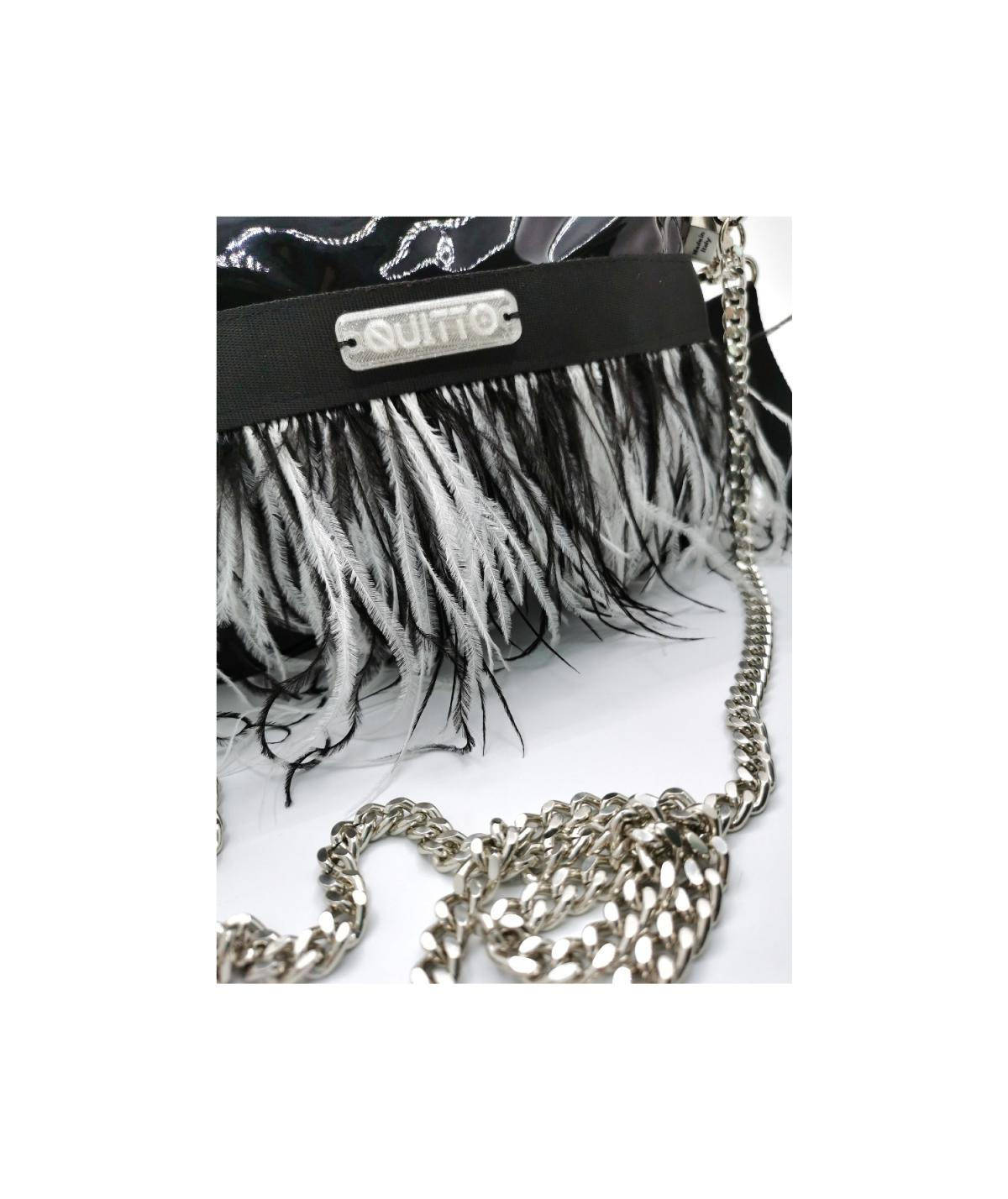 mini-bag-nera-piuma-nera-bianco-dettaglio