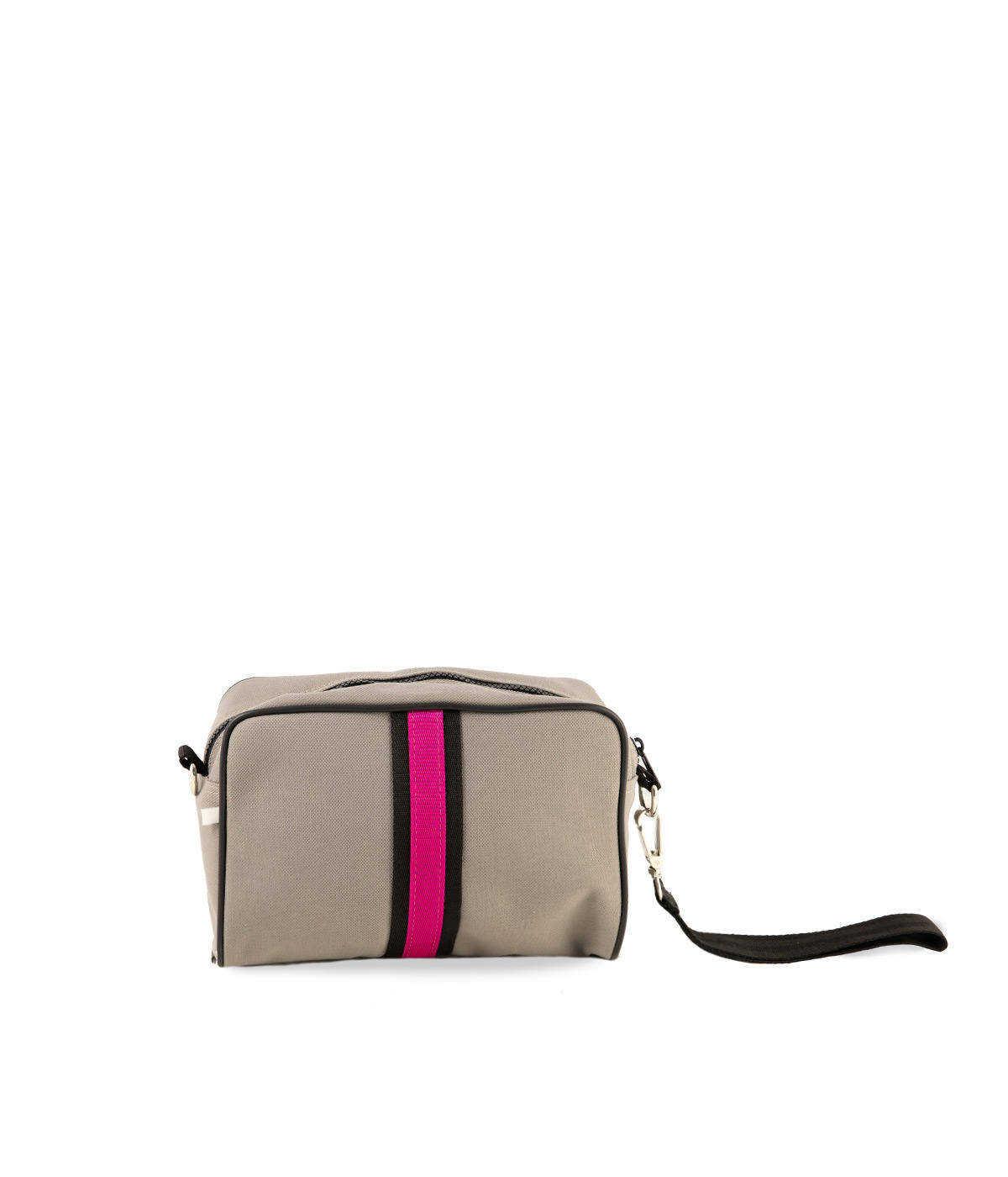 Beauty Bag Tessuto Tecnico Impermeabile Grigio Chiaro Quitto Bags