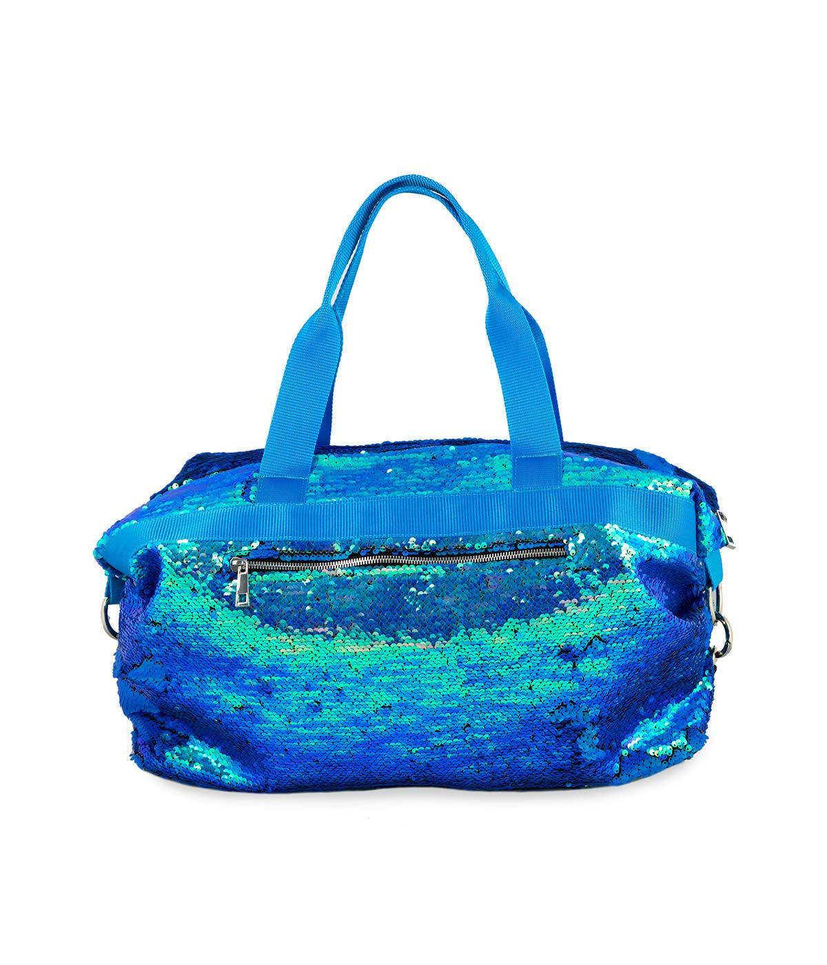 bBorsone Borsa Grande Paillettes Azzurra Quitto Bags